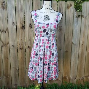 Sans Souci Polkadots Fit and Flare Dress
